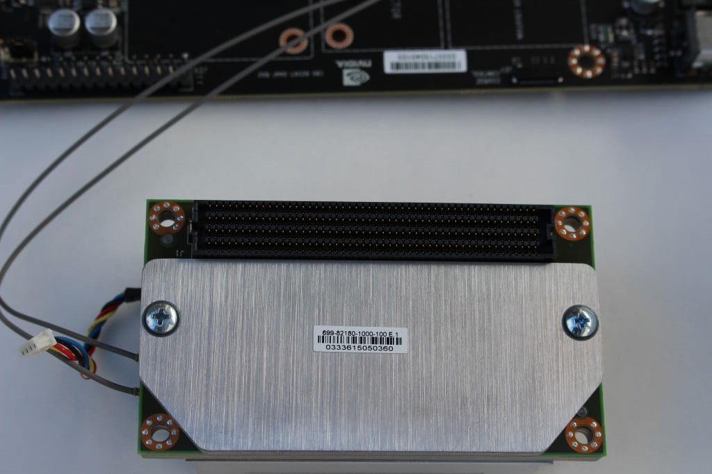Underside of Jetson TX1 Module, Samtec 400 pin connector