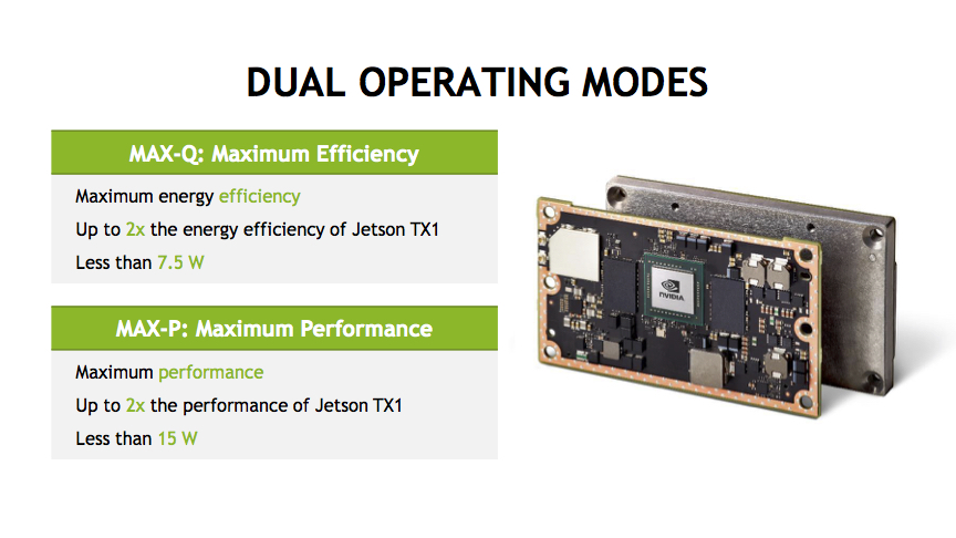 Jetson TX2 Dual Operating Modes