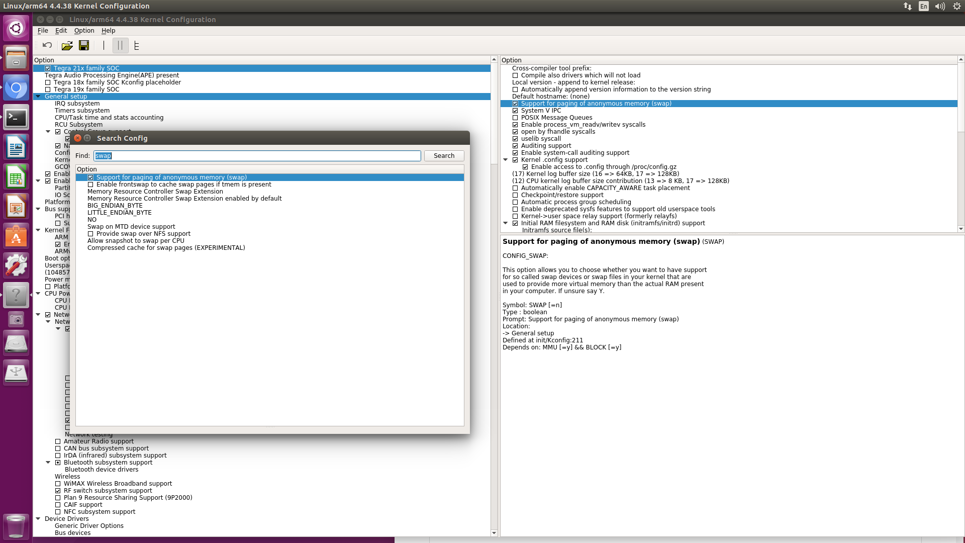 Kernel Enable Swap Setting